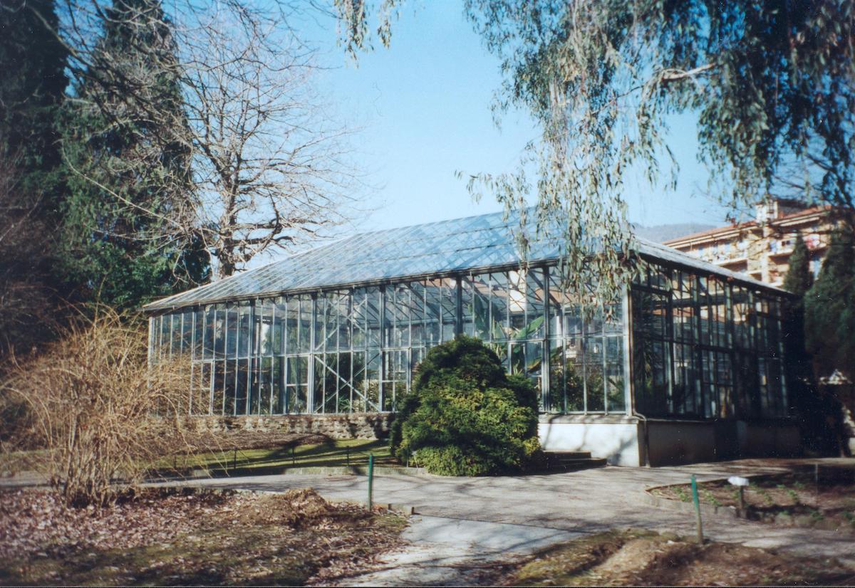 Serra botanica di Villa Taranto Pallanza Lago Maggiore – struttura metallica in ferro e vetro